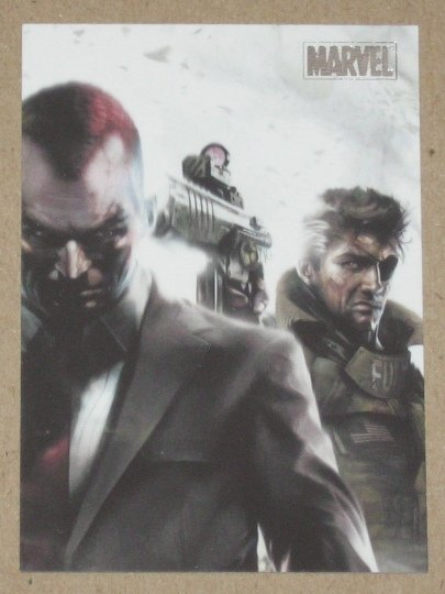 Marvel Heroes and Villains (Rittenhouse 2010) Parallel Card #76- Nick Fury vs. Norman Osborn NM