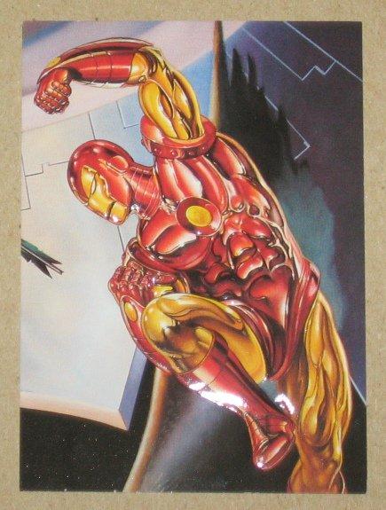 DC versus Marvel (Fleer/SkyBox 1995) Impact Card #3- Iron Man EX-MT