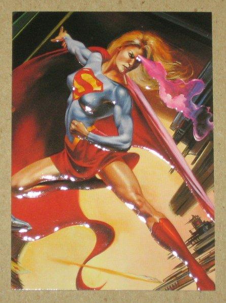 DC versus Marvel (Fleer/SkyBox 1995) Impact Card #11- Supergirl EX-MT