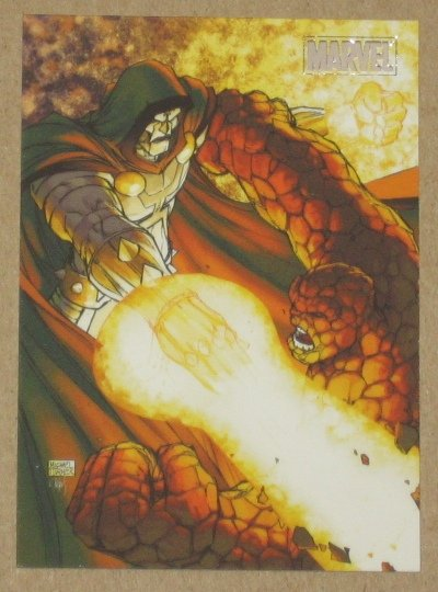 Marvel Heroes and Villains (Rittenhouse 2010) Parallel Card #18- Thing vs. Doom EX-MT