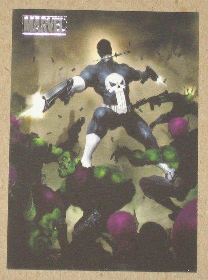 Marvel Heroes and Villains (Rittenhouse 2010) Parallel Card #69- Punisher vs. Skrull EX-MT