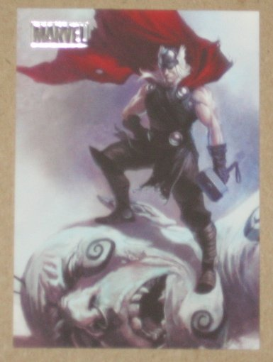 Marvel Heroes and Villains (Rittenhouse 2010) Parallel Card #71- Thor vs. Frost Giant EX-MT