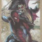 Marvel Heroes and Villains (Rittenhouse 2010) Parallel Card #78- Spider-Man vs. Morbius EX-MT