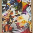 Marvel Heroes and Villains (Rittenhouse 2010) Parallel Card #11- Ms. Marvel vs. Skrull EX