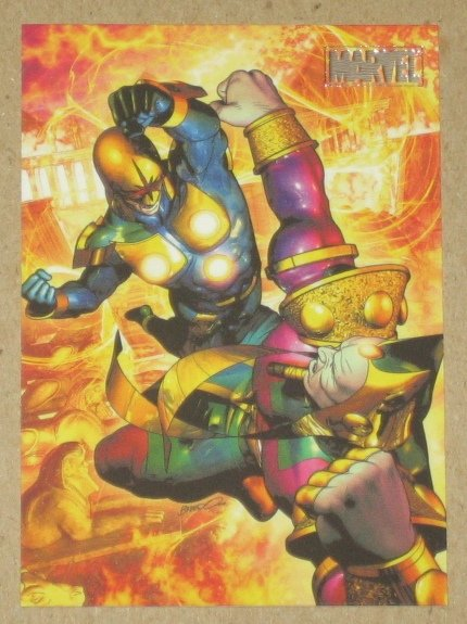 Marvel Heroes and Villains (Rittenhouse 2010) Parallel Card #23- Nova vs. Sphinx EX