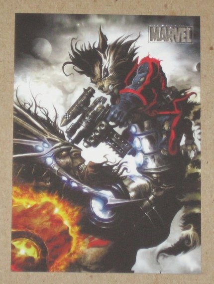 Marvel Heroes and Villains (Rittenhouse 2010) Parallel Card #49- Rocket Raccoon vs. Blastaar EX