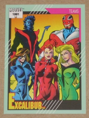 Marvel Universe Series 2 (Impel 1991) Card #155- Excalibur NM
