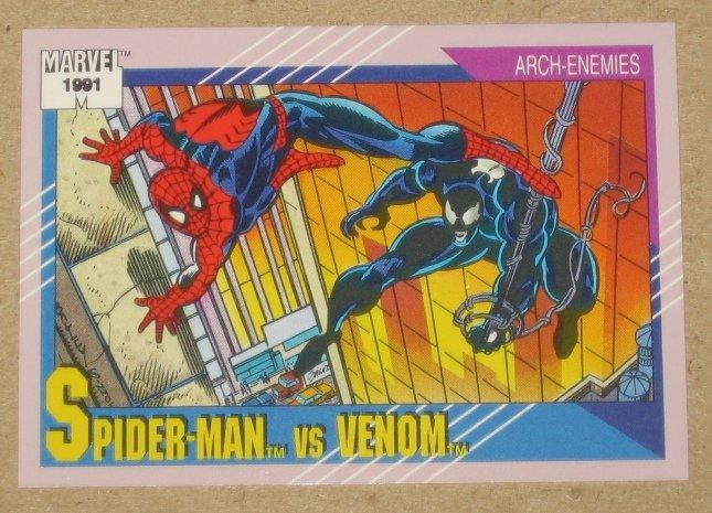 Marvel Universe Series 2 (Impel 1991) Card #91- Spider-Man vs. Venom NM