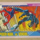 Marvel Universe Series 2 (Impel 1991) Card #91- Spider-Man vs. Venom NM