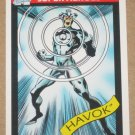 Marvel Universe Series 1 (Impel 1990) Card #35- Havok EX