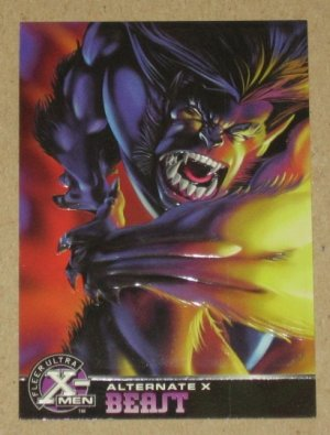 X-Men All Chromium, Fleer Ultra 1995 - Alternate X Embossed Card #1- Beast EX