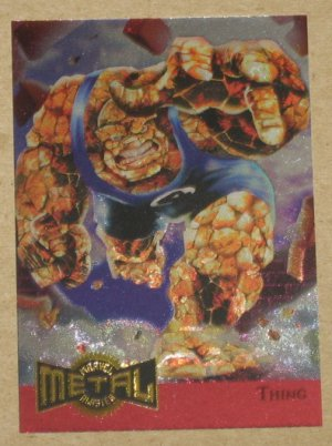 Marvel Metal (Fleer 1995) Metal Blaster Card #14- Thing EX-MT