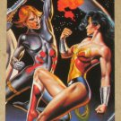 DC versus Marvel (Fleer/SkyBox 1995) Impact Card #5- Wonder Woman & Black Widow EX