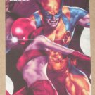 Marvel Heroes and Villains (Rittenhouse 2010) Parallel Card #81- Wolverine vs. Ruby Red EX