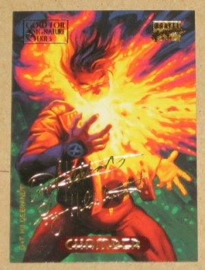 Marvel Masterpieces 1994 (Fleer) Gold-Foil Signature Parallel Card #23- Chamber EX