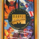 Marvel Masterpieces 1994 (Fleer) Gold-Foil Signature Parallel Card #140- Checklist EX