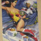 DC versus Marvel (Fleer/SkyBox 1995) Holo F/X Card #12- Wonder Woman vs. Storm EX-MT