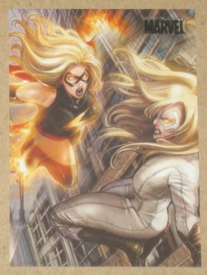 Marvel Heroes and Villains (Rittenhouse 2010) Parallel Card #68- Ms. Marvel vs. Moonstone NM