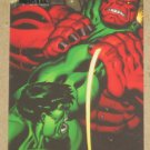Marvel Heroes and Villains (Rittenhouse 2010) Parallel Card #64- Hulk vs. Red Hulk NM