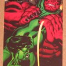 Marvel Heroes and Villains (Rittenhouse 2010) Parallel Card #64- Hulk vs. Red Hulk EX