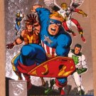 Amalgam (Fleer/SkyBox 1996) Power Blast Card #2- Judgment League Avengers #4 VG