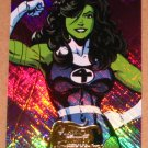 Marvel Masterpieces Set 2 (Upper Deck 2008) Heroines Chase Card MH 6 - She-Hulk EX