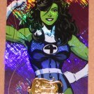 Marvel Masterpieces Set 2 (Upper Deck 2008) Heroines Chase Card MH 6 - She-Hulk EX-MT