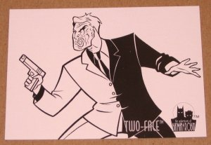 Batman and Robin, The Adventures of (SkyBox 1995) Coloring Card C5 Two-Face EX