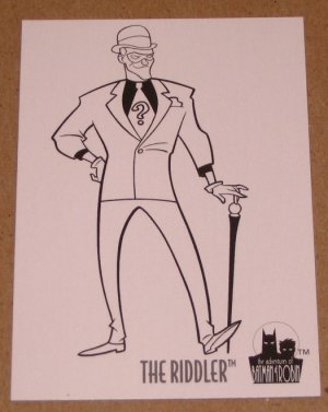 Batman and Robin, The Adventures of (SkyBox 1995) Coloring Card C7 The Riddler EX