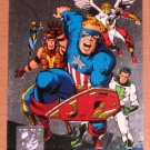 Amalgam (Fleer/SkyBox 1996) Power Blast Card #2- Judgment League Avengers #4 EX-MT