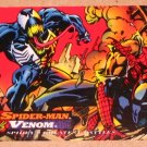 Spider-Man, the Amazing (Fleer 1994) Card #97- Spider-Man vs. Venom VG