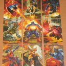 Amalgam (Fleer/SkyBox 1996) Canvas Card Set EX-MT