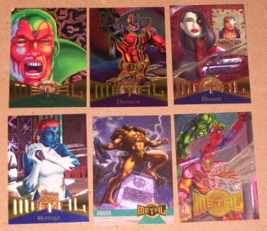 Marvel Metal (Fleer 1995) - Single Cards