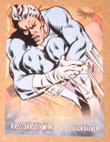 Avengers Kree-Skrull War (Upper Deck 2011) Retro Card R-15 Quicksilver EX