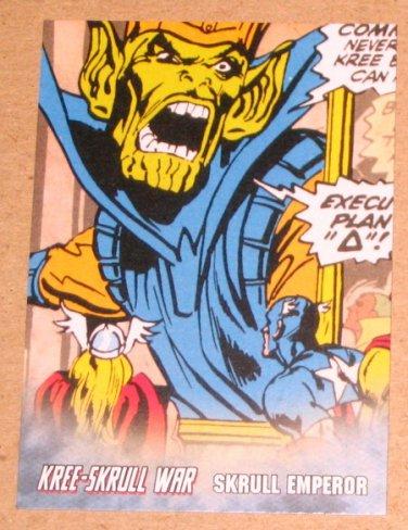 Avengers Kree-Skrull War (Upper Deck 2011) Retro Card R-20 Skrull Emperor EX