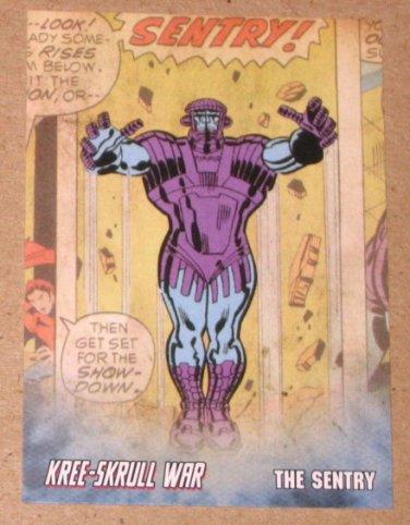Avengers Kree-Skrull War (Upper Deck 2011) Retro Card R-23 Sentry EX