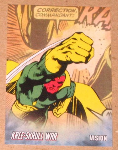 Avengers Kree-Skrull War (Upper Deck 2011) Retro Card R-26 Vision EX