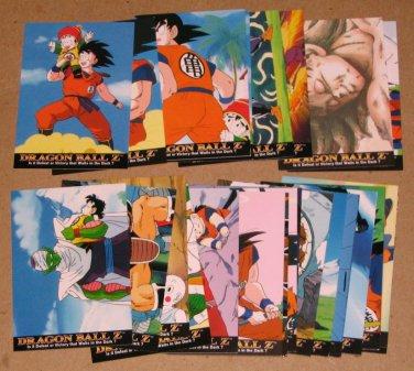Dragon Ball Z Series 1 (Artbox 1996) - Lot of 24 Cards VG