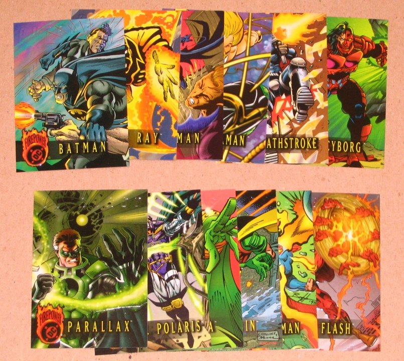 DC Outburst FirePower (Fleer/SkyBox 1996) - Lot of 14 Cards EX