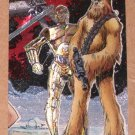 Star Wars Galaxy Series 1 (Topps 1993) Etched Foil Card #4- C-3PO and Chewbacca EX