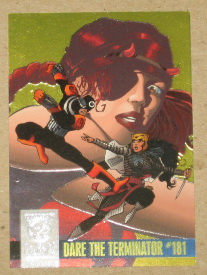 Amalgam (Fleer/SkyBox 1996) Power Blast Card #5 Dare the Terminator #181 EX