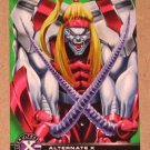 X-Men All Chromium, Fleer Ultra 1995 - Alternate X Embossed Card #15- Omega Red EX