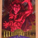 Marvel Metal (Fleer 1995) Silver Flasher Card #34- Mephisto VG