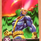 X-Men All Chromium, Fleer Ultra 1995 - Alternate X Embossed Card #7- Cyclops EX