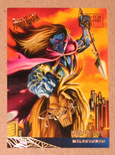 Spider-Man, Fleer Ultra (1995) Gold Foil Signature Card #95- Web of Life EX
