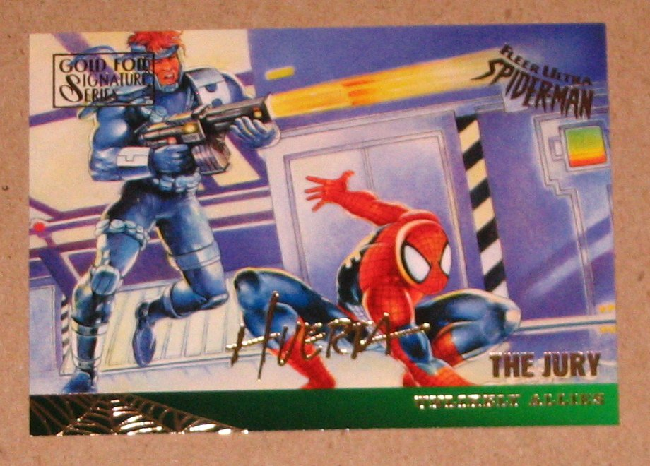 Spider-Man, Fleer Ultra (1995) Gold Foil Signature Card #130- The Jury EX