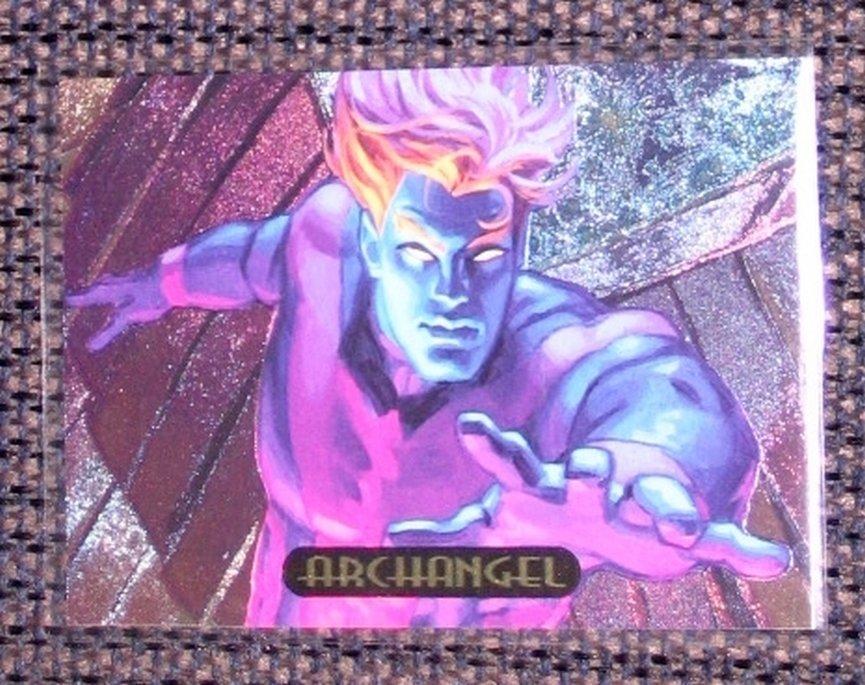 Marvel Masterpieces 1994 (Fleer) PowerBlast Card #2- Archangel EX