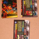 DC Outburst FirePower (Fleer/SkyBox 1996) - Near Card Set 78/80 NM
