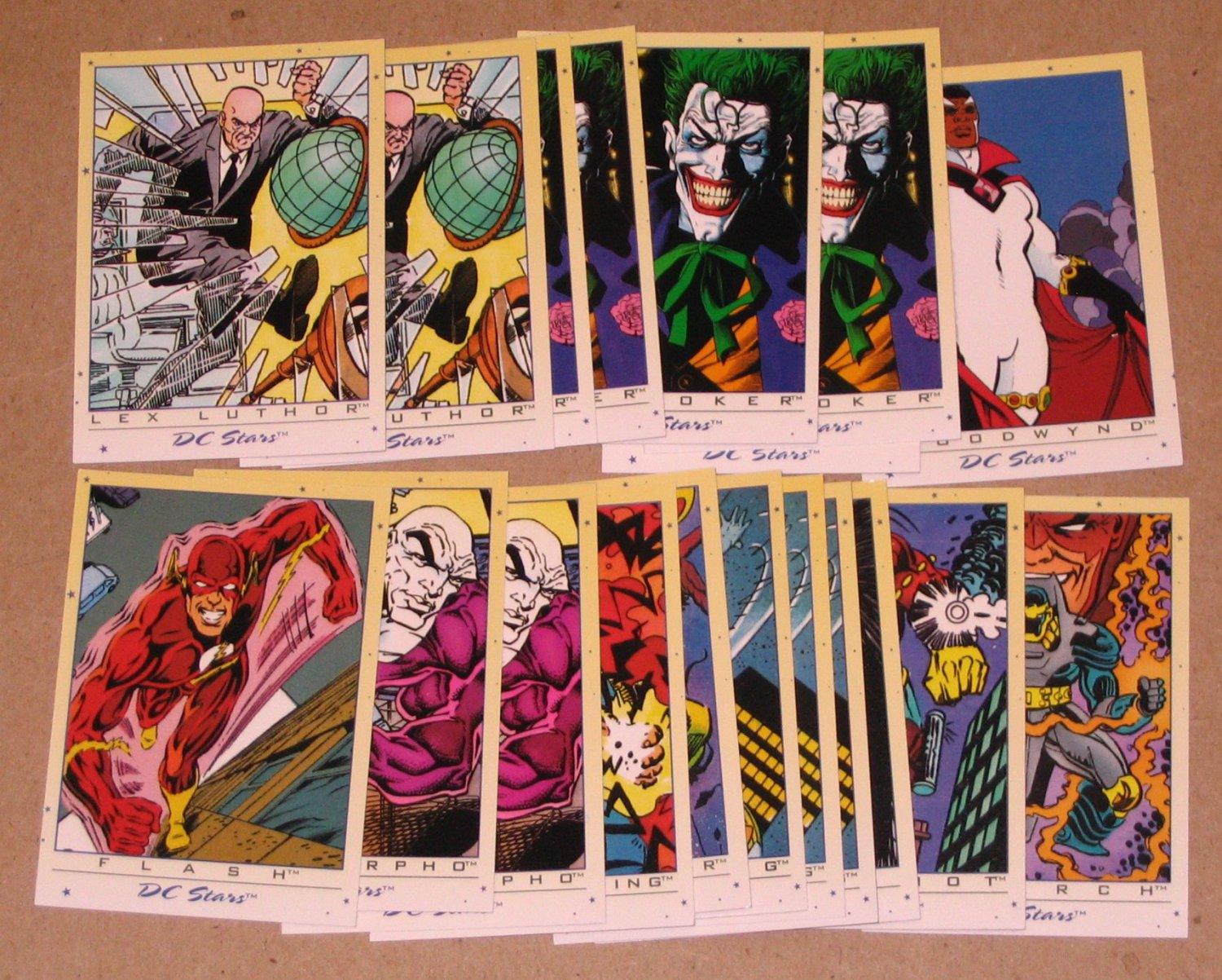 DC Stars (SkyBox 1994) - Lot of 19 Cards EX