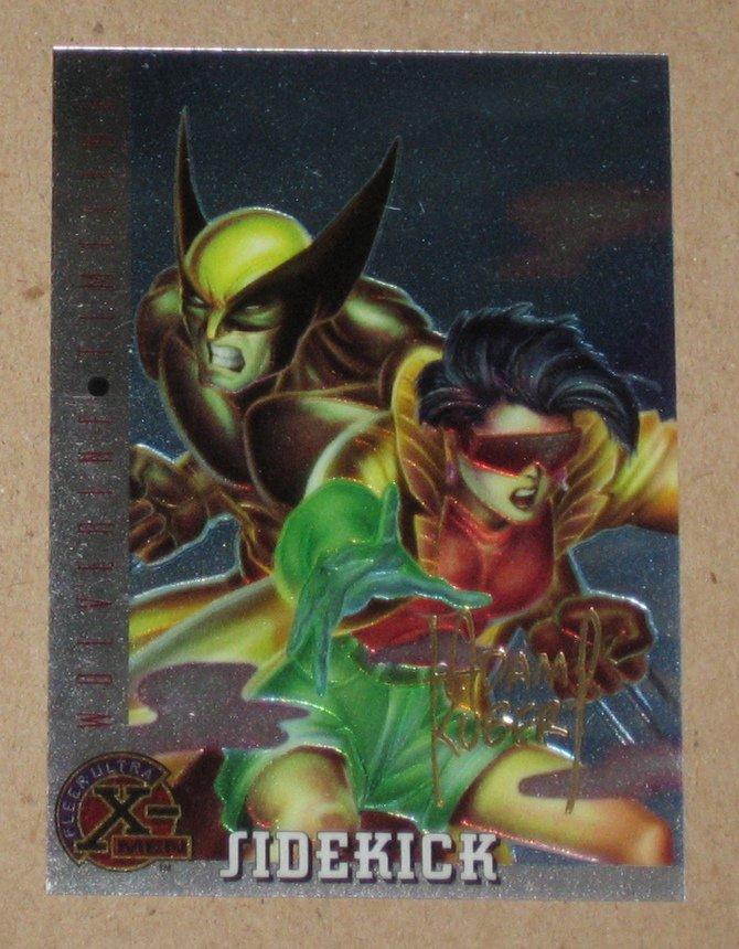 X-Men All Chromium, Fleer Ultra 1995 - Gold-foil Signature Card #85- Sidekick VG